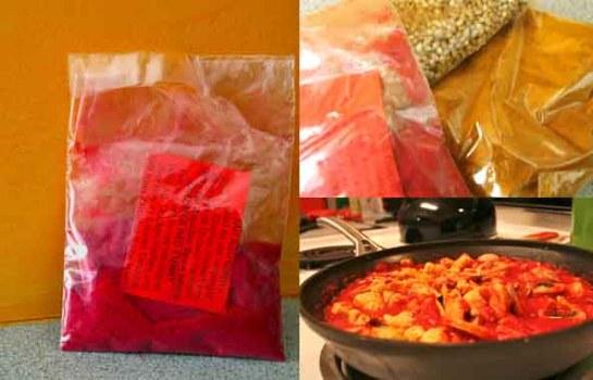 zanzibar red curry: powders & method